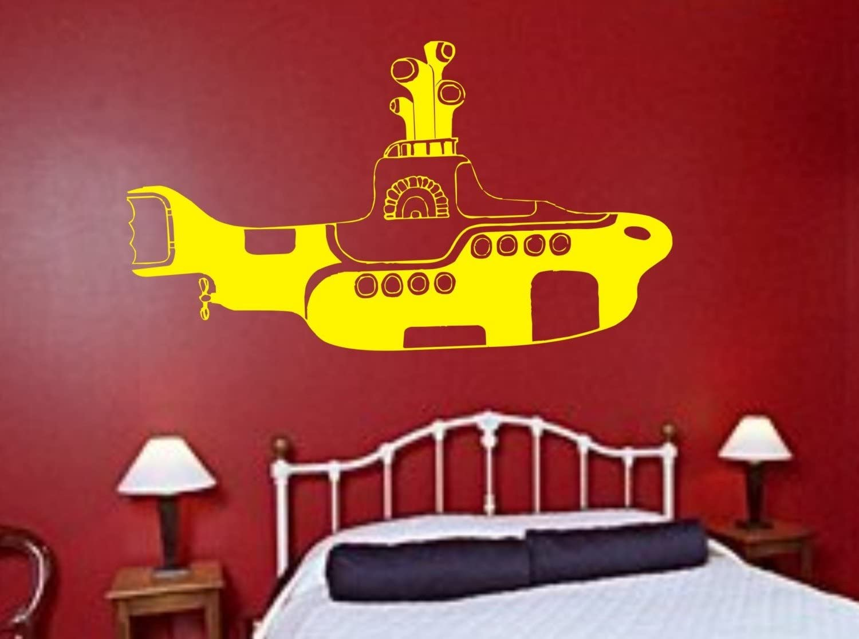 Amazon Com The Beatles Yellow Submarine Decal Sticker Wall Music