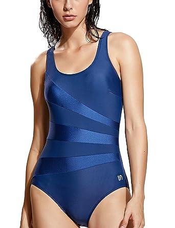 Tiefstpreis UK-Shop 100% Qualität SYROKAN Damen Sport Badeanzug Shape mit Cups Einteiler Bademode Schwimmanzug