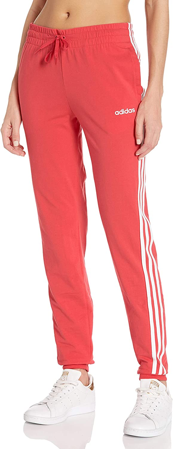 adidas Women's Essentials 3-Stripes Single Jersey Joggers (Discontinued)