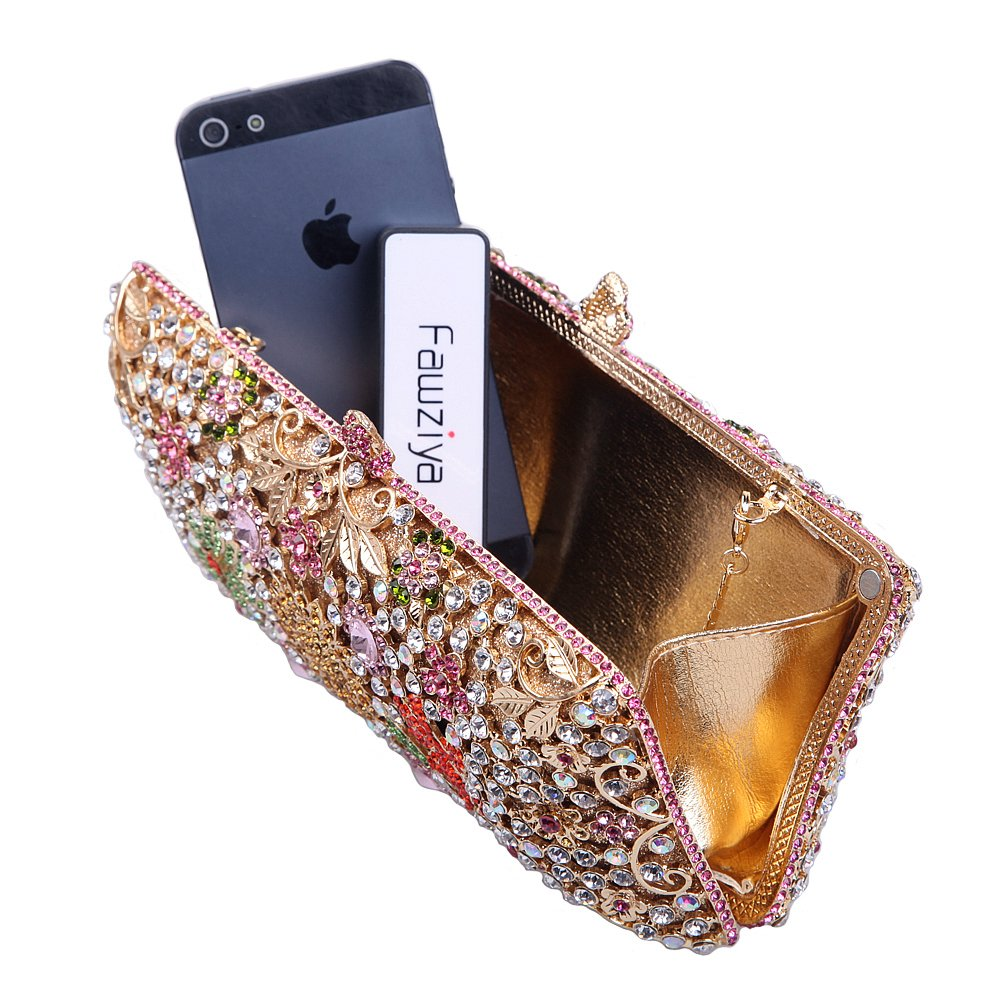 Fawziya Bling Flower Clutch Purse Rhinestone Crystal Byo Shell In Matte Burgundy Evening Bags Multicolor Shoes