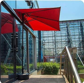 YANJ La Mitad del jardín Sombrilla de Pared Exterior Paraguas, Square-| 2.3x1.2X Altura de 2,2 m |Patio/balcón/terraza, sin Base - Plegable (Color : Green): Amazon.es: Hogar