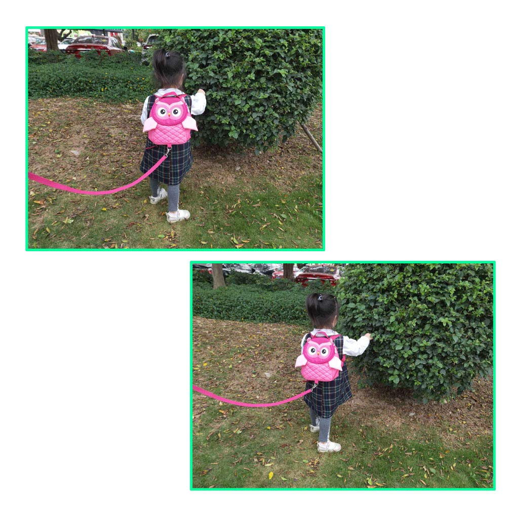 Green EDATOFLY 2019 New Owl Toddler Backpack Reins Walking Kids Bag Baby Backpack with Safety Rein for 1-4 Years Kids
