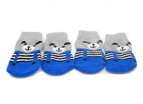 Kejea – Calcetines para mascotas, suaves, calientes, antideslizantes, protectores de las