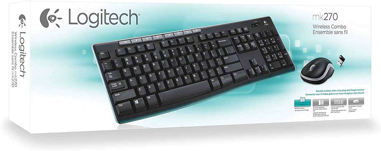 Logitech MK270 Combo Teclado y Ratón inalámbrico para Windows, Disposición QWERTZ Alemán, Negro