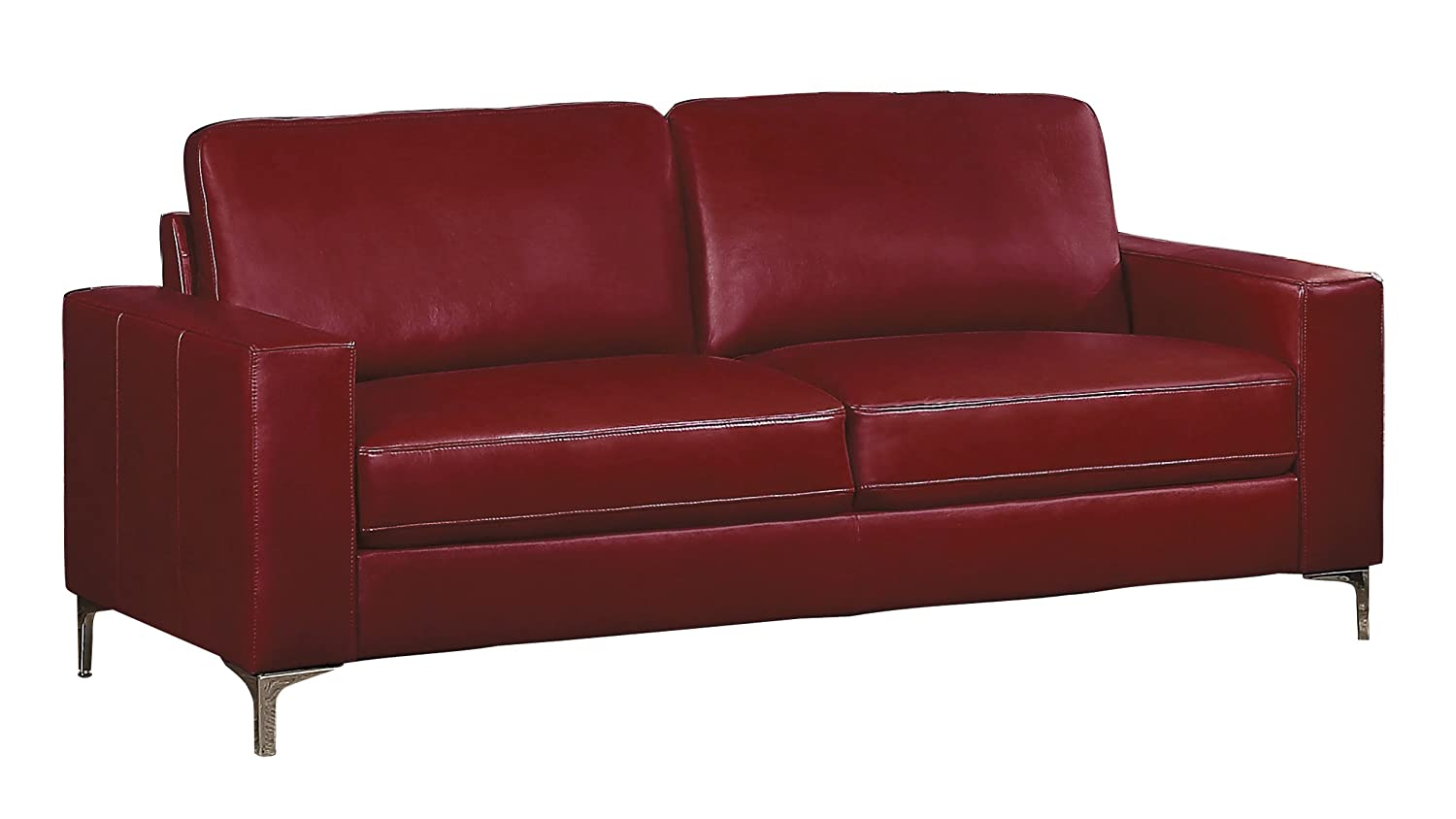 Homelegance Track Arm Sofa with Metal Accent Leg