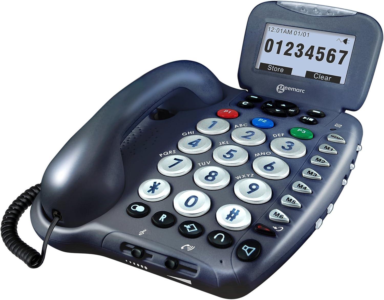 Geemarc Cl455 Grosstastentelefon Mit Sprachausgabe Und Elektronik