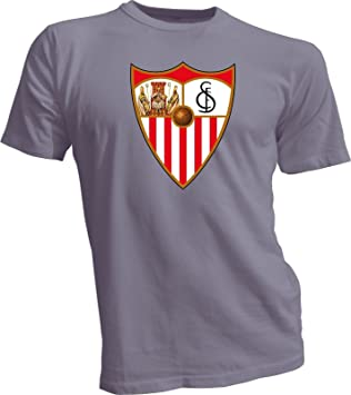 Sevilla FC España La liga fútbol fútbol camiseta nueva camisa de camiseta para hombre T nuevo gris: Amazon.es: Deportes y aire libre