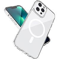 Doorzichtige magnetische hoesje met Mag Safe Compatibel met iPhone 13 Pro Max 2021, met magnetisch draadloos opladen…
