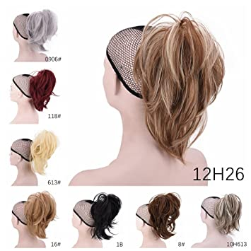 Flexible Ponytail Hair Extensions Women S Synthetic Short Curly Fluffy Ponytail New Style Claw