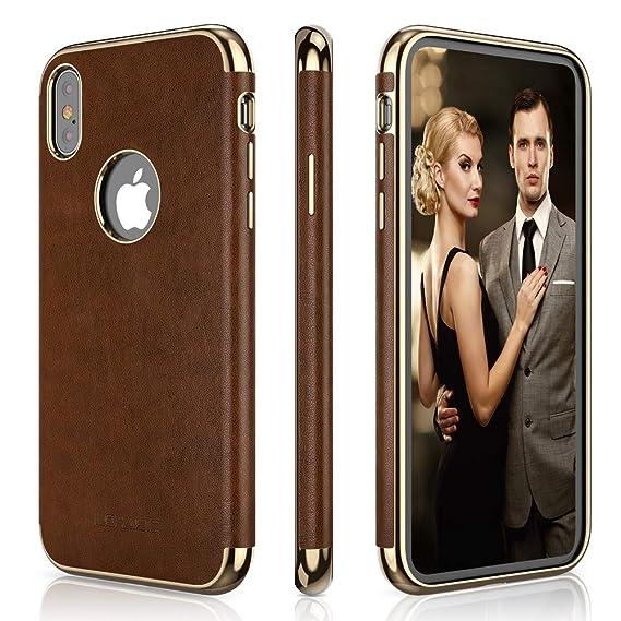 best service ebee2 a86e1 Amazon.com: LOHASIC iPhone Xs Max Case, Slim Fit Luxury Leather ...