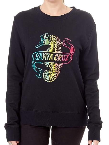 Santa Cruz Sudadera para Mujer Seahorse Crew Negro: Amazon.es: Ropa y accesorios