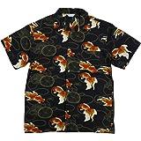(スタイルド バイ オリジナルズ) Styled by Originals 金魚 鼓 半袖 レーヨン100% 和柄 アロハシャツ