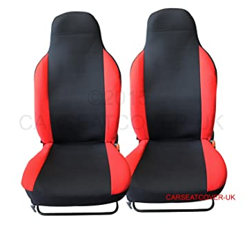 Heavy Duty Black Waterproof Car Seat Covers//Protectors 2 x Fronts A6 Allroad 2012-