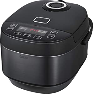 CRUX 20 Cup Induction Rice Cooker, Multi-Cooker, Food Steamer, Slow Cooker, Stewpot, Easy One-Pot Healthy Meals, Dishwasher Safe Non-Stick Bowl, Black