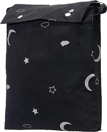 cortina con estrellas negra
