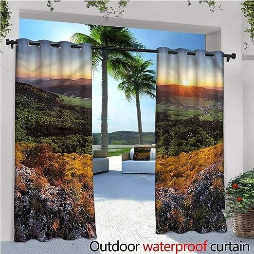 Cortinas para Exterior o Exterior de la Naturaleza cálida para Patio, jardín, resortes para Patio, Bloque de luz, Resistente al Agua y al Calor: Amazon.es: Jardín