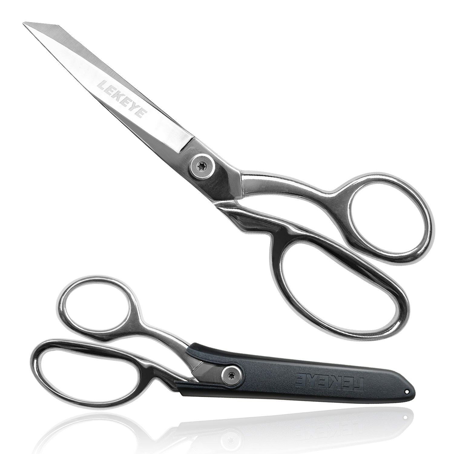 "LEKEYE Dressmaker's Scissors Heavy-Duty 8"" Fabric Cutting Shears for Smooth Multiple Layer Cutting