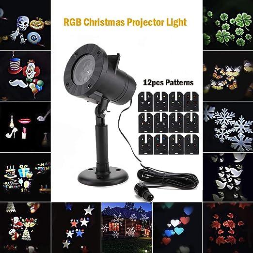 ALLOMN Navidad Proyector de luz, Interior Exterior Luz de la ...