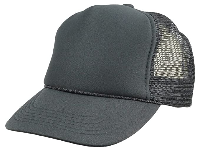 270ec1d9 Image Unavailable. Image not available for. Color: New Youth Trucker Hat  Ball Cap Mesh Kids Blank Plain S Xs Red ...