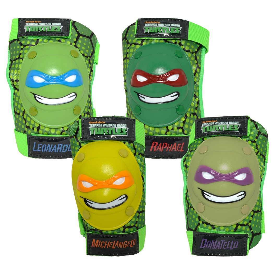 Amazon.com: TMNT caras Kids – Rodilleras y coderas: Sports ...