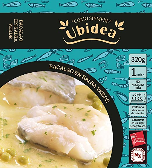 Bacalao en Salsa Verde - Ubidea - 3 platos
