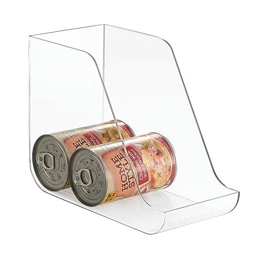 mDesign - Juego de dos organizadores de latas de comida para muebles de cocina, transparente: Amazon.es: Hogar