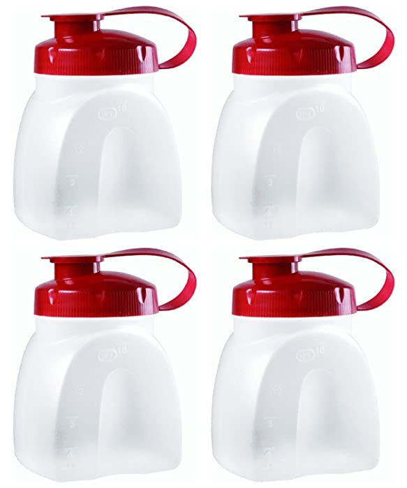 Rubbermaid MixerMate Servin' Saver 1 Pint Bottles, Pack of 4 Bottles