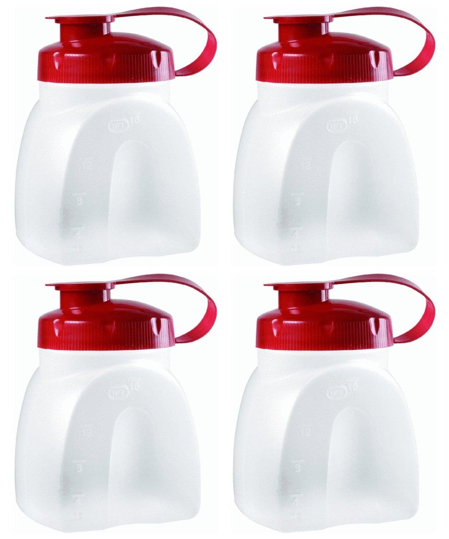 Rubbermaid MixerMate Servin' Saver 1 Pint Bottles, Pack of 4 Bottles