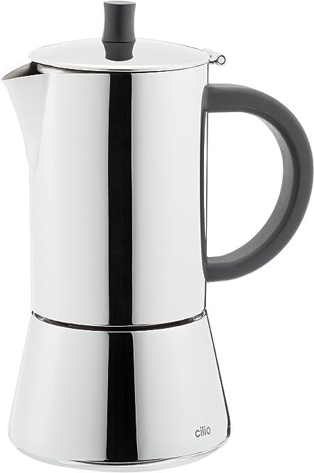Cilio Espressokocher Figaro, 2 Tassen, Edelstahl, Induktion