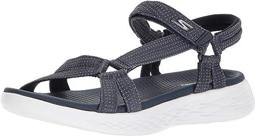 ligero frio Imaginación  Skechers On The Go 600 15316-nvy, Sandalias Deportivas Mujer: Amazon.es:  Zapatos y complementos