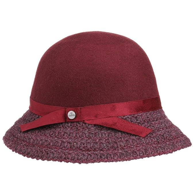 Lierys Cappello Cloche Tesa a Maglia Lana Taglia Unica - Rosso Bordeaux   Amazon.it  Abbigliamento 5291a87defe3