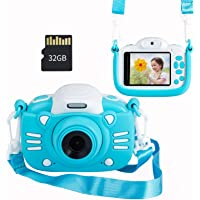 MINIBEAR Kids Digital Camera, 30MP Children's Selfie Camera for Boys and Girls, 1080P Rechargeable Video Recorder with…