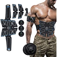 BELLY MUSCLE TRAINER ELECTRICAL - EMS-spierstimulator met 15 krachtniveaus, EMS-trainingsapparaat voor mannen…