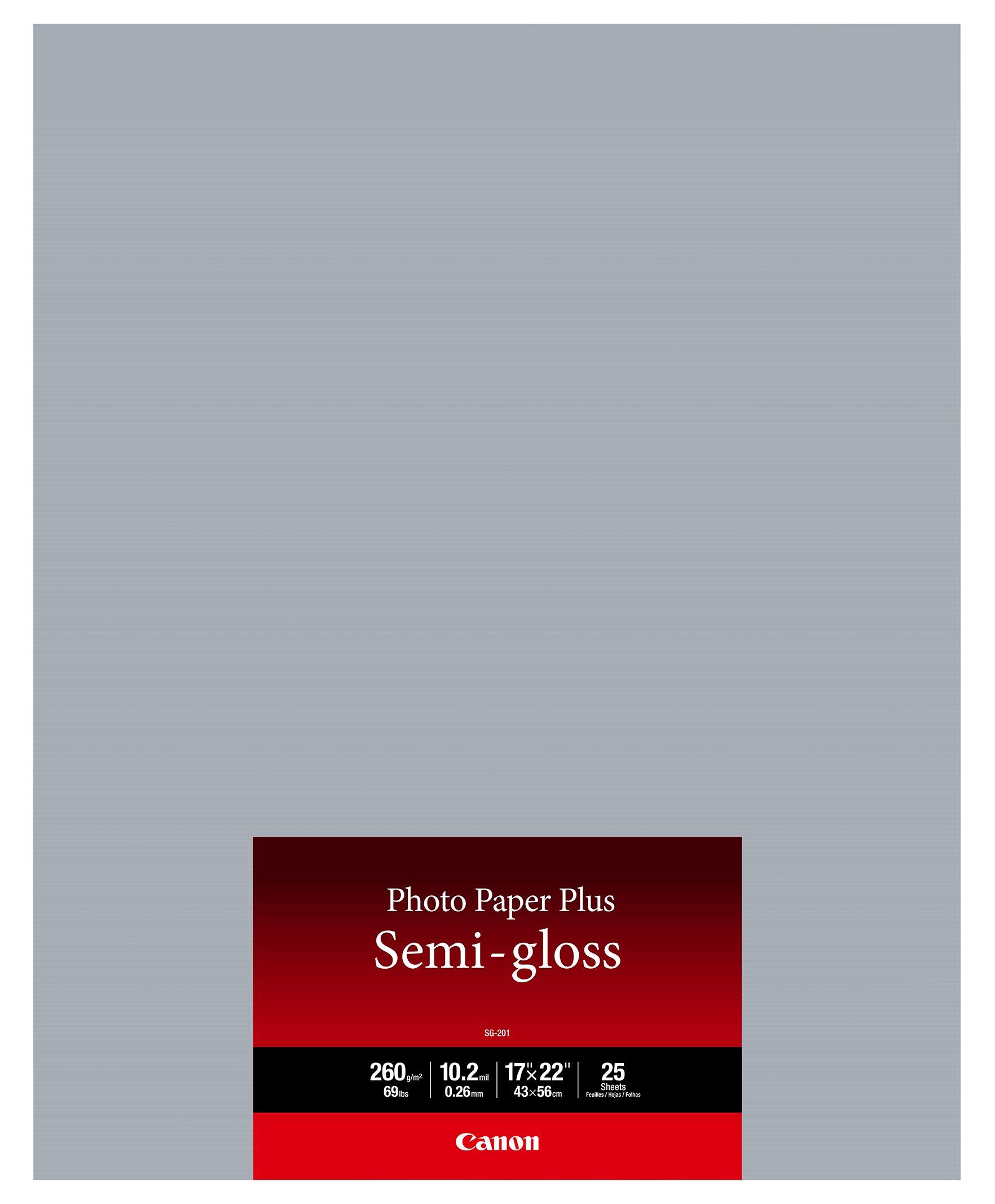 Canon Semi-Gloss Photo Paper, 17'x22', 25 sheets