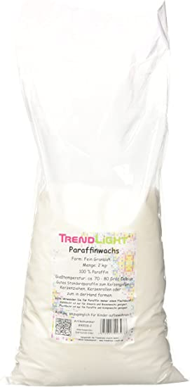 TrendLight 890018-2 - Cera de parafina Pura para Hacer Velas ...