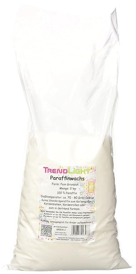 TrendLight 890018-2 - Cera de parafina pura para hacer velas (2 kg)