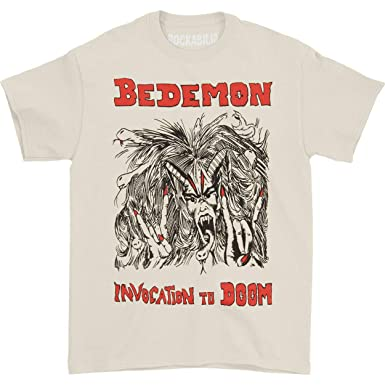 a7d0963a Amazon.com: Bedemon Men's Invocation to Doom T-Shirt XX-Large Ivory ...