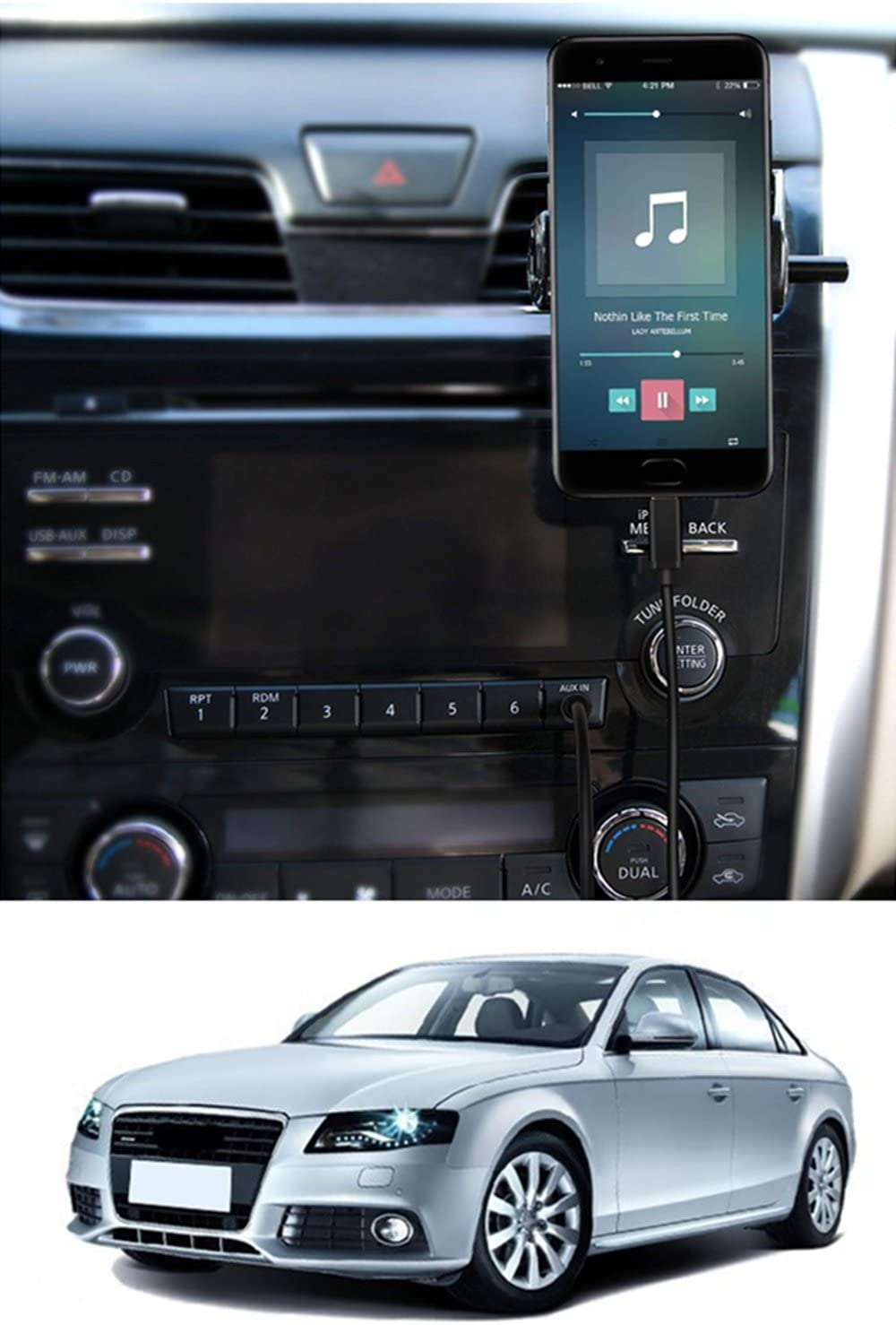 Media Interface Aux Cable with USB C for Mercedes Benz COMAND-APS NTG4.5 B C E G CLS GLK SL SLK Class Vehicles 2011-15
