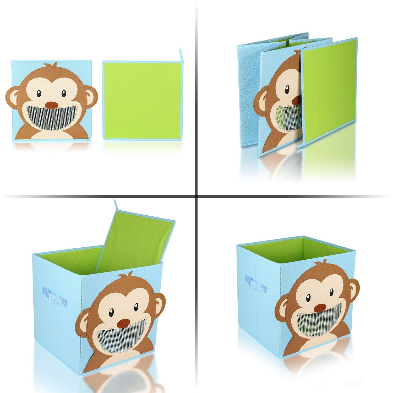 BABYLOVIT Kinder Aufbewahrungsbox I Spielzeugkiste mit Sichtfenster und Griffe f/ür Kinderzimmer I Spielzeug Box zur Aufbewahrung im Kallax Regal