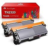 Toner Kingdom 2 Pack Cartucho de tóner Compatible Brother TN2320 para su Uso en Brother HL-L2300D HL-L2320D HL-L2340DW…