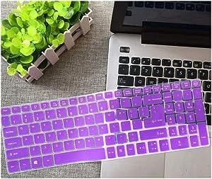 15.6 Inch Silicone Keyboard Cover Protector Compatible for Acer Aspire E15 E 15 E5 576 V3 V15 E5 553G/575G / Aspire 3 5 7 Series 15 Inch,Purple