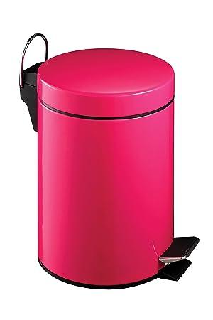 Premier Poubelle à pédale Rose 3 litres: Amazon.fr: Cuisine & Maison