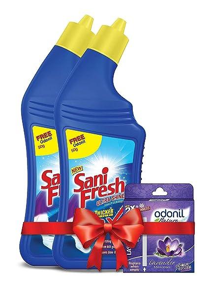 Sanifresh Ultrashine 1L ( 500 + 500) Toilet Cleaner -1.5X Extra