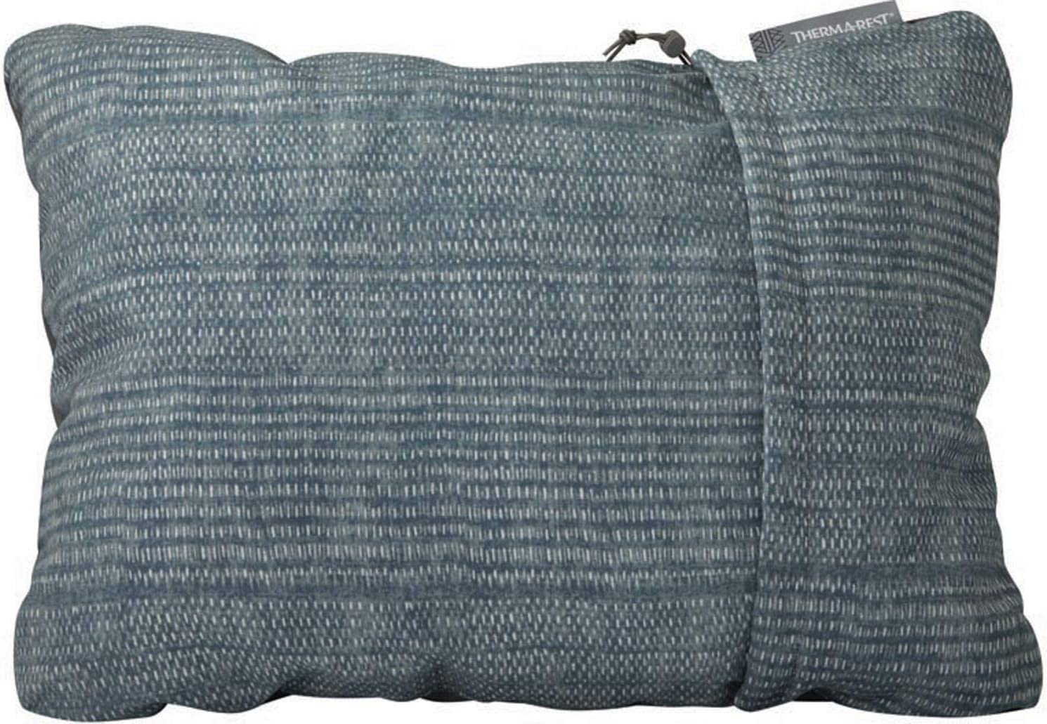 Airplanes and Road Trips Therm-a-Rest Compressible Travel Pillow for Camping 12 x 16 Inches Backpacking Small Denim