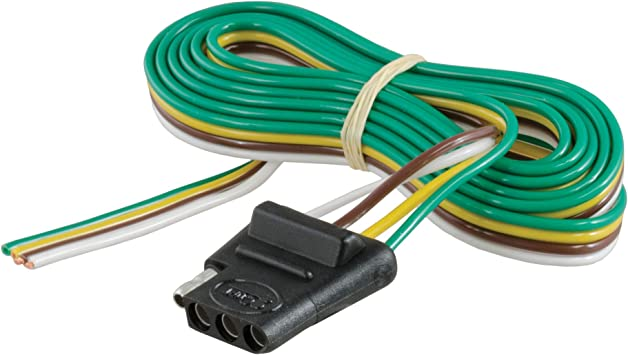 Amazon.com: CURT 58040 Vehicle-Side 4-Pin Flat Trailer Wiring Harness with  60-Inch Wires: AutomotiveAmazon.com