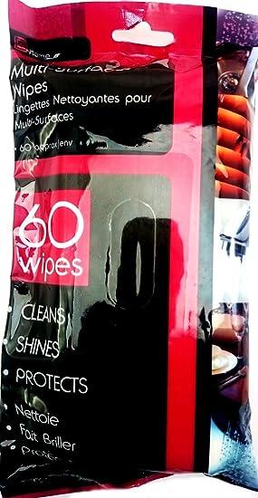 60 multi-limpieza de superficies y polvo toallitas húmedas antibacteriales inodoro fácil de Interior de