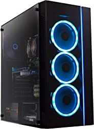 Periphio Gaming Desktop Computer Tower PC, Intel Quad Core i5 3.1GHz, 8GB RAM, 128GB SSD + 1TB 7200 RPM HDD, Windows 10, GeF