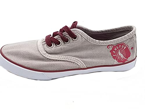 Sneakers grigie con stringhe per bambina Canguro NaBxUstu