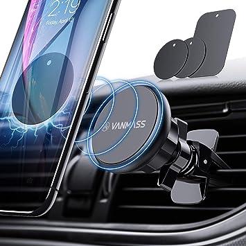 Vanmass Handyhalter Fürs Auto Magnet Kfz Handy Halterung Lüftung Superstark Magnetkraft Mit 6 Magnete Und 3 Metallplatte Magnetische Auto