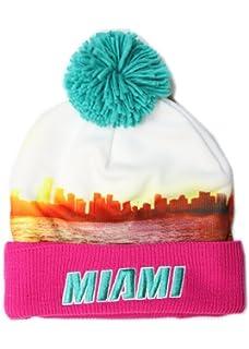 db69610b8353ce ... good miami heat mitchell ness nba cuffed pom knit hat 0adf2 f7df8